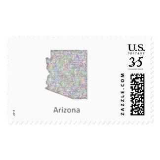 Arizona map stamps