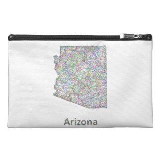 Arizona map travel accessory bag