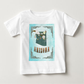 Arizona Map With Lovely Birds Infant T-shirt