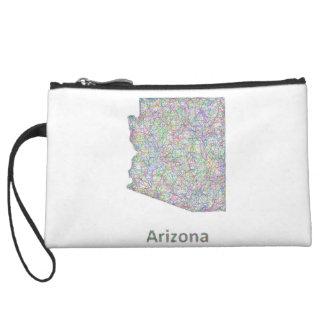Arizona map wristlet wallet