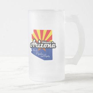 "Arizona - ""Mecca for Prejudice and Bigotry"" 16 Oz Frosted Glass Beer Mug"