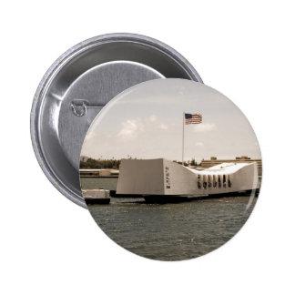 Arizona Memorial Pearl Harbor 2 Inch Round Button