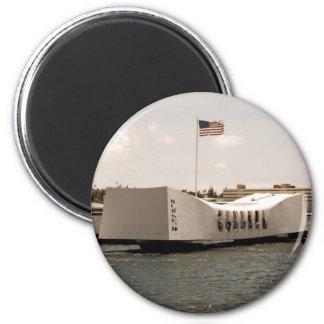 Arizona Memorial Pearl Harbor 2 Inch Round Magnet