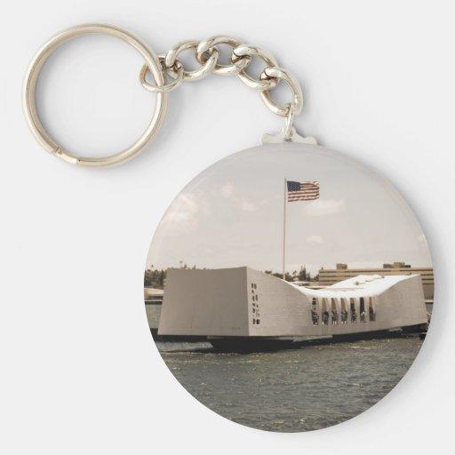 Arizona Memorial Pearl Harbor Basic Round Button Keychain