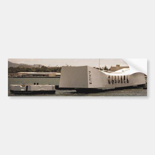 Arizona Memorial Pearl Harbor Bumper Stickers