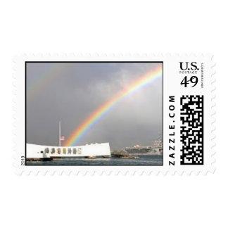 Arizona memorial USS Reagan rainbow Postage Stamps