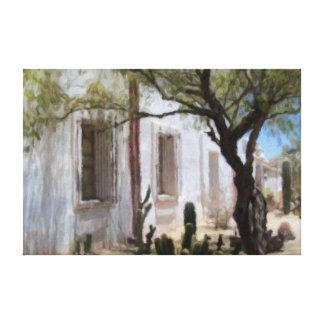 Arizona Mission Patio Canvas Print
