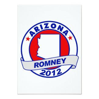 Arizona Mitt Romney 5x7 Paper Invitation Card