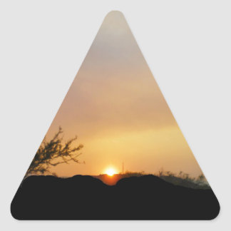 Arizona morning sun triangle sticker