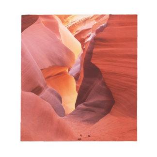 Arizona nación de Navajo un barranco más bajo de Bloc De Notas