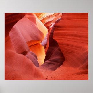 Arizona, nación de Navajo, un barranco más bajo de Póster
