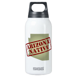 Arizona Native Stamped on Map Insulated Water Bottle
