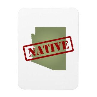 Arizona Native with Arizona Map Rectangular Photo Magnet
