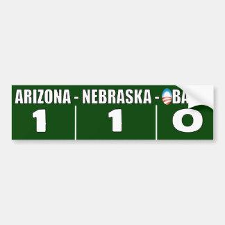 Arizona - Nebraska Anti Illegal Immigration Car Bumper Sticker