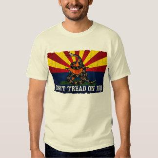 Arizona: No pise en mí (el vintage) Playera