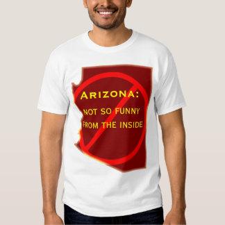 Arizona: not so funny from the inside t-shirt