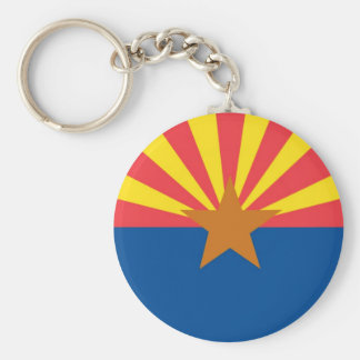 Arizona  Official State Flag Basic Round Button Keychain