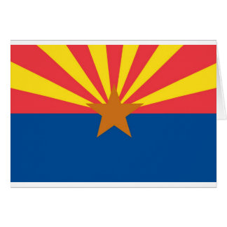 Arizona  Official State Flag Card