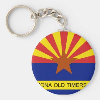 Arizona Old Timers Flag Logo Round Keychain 2