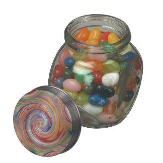 arizona orange swirl pattern jelly belly candy jar