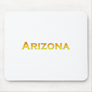 Arizona Orange-Yellow Text Logo Mouse Pad