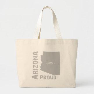 Arizona orgulloso bolsa tela grande