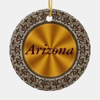Arizona Double-Sided Ceramic Round Christmas Ornament