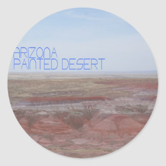 Arizona Painted Desert Classic Round Sticker