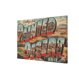 Arizona - Painted Desert - Large Letter Scenes Canvas Print