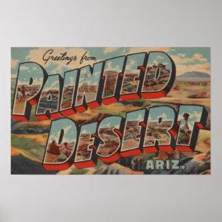 Arizona - Painted Desert - Large Letter Scenes Poster