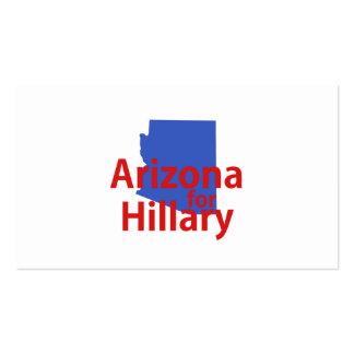 Arizona para Hillary Tarjetas De Visita