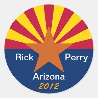Arizona para Rick Perry - presidente 2012 Pegatinas