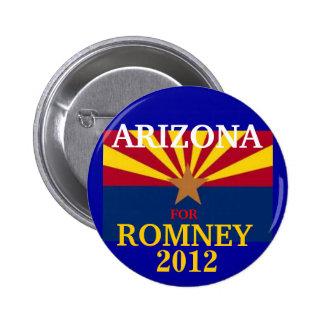 Arizona para Romney 2012 Pin Redondo De 2 Pulgadas