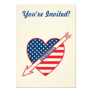 Arizona Patriot Flag Heart Card