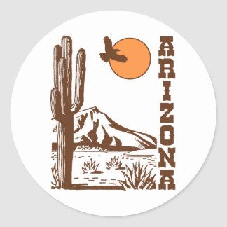 Arizona Pegatina Redonda
