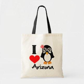 Arizona Penguin - I Love Arizona Bag