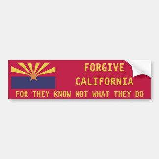 Arizona: Perdone California Pegatina Para Auto