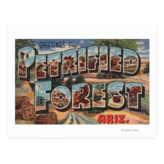Arizona - Petrified Forest - Large Letter Postcard