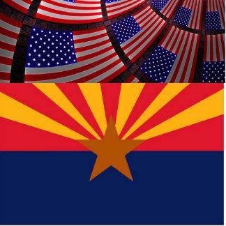 Arizona Photo Sculpture Button