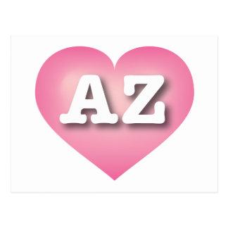 Arizona pink fade heart - Big Love Postcard