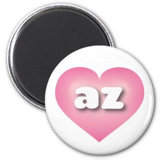 Arizona pink fade heart - mini love magnet