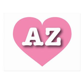 Arizona pink heart - Big Love Postcard