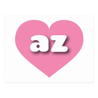 Arizona pink heart - mini love postcard