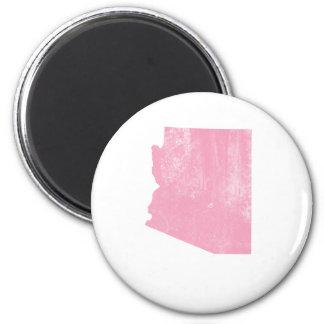 Arizona Pink Vintage Grunge Fridge Magnet