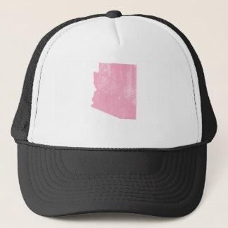 Arizona Pink Vintage Grunge Trucker Hat