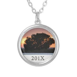 Arizona pintó el árbol de la foto de la puesta del colgante redondo