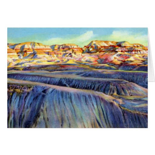 Arizona pintó el desierto y el bosque azul felicitación