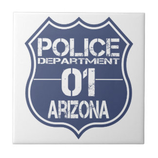 Arizona Police Department Shield 01 Ceramic Tile