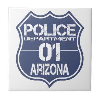 Arizona Police Department Shield 01 Ceramic Tile