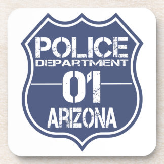 Arizona Police Department Shield 01 Drink Coaster